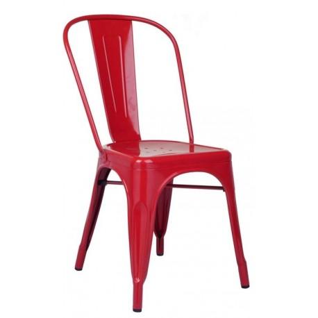 Chaise Vintage de style industriel en Rouge Chaise industrielle