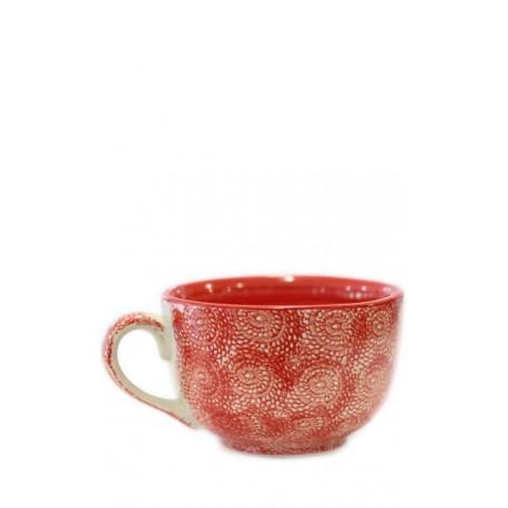 Taza roja, 12,5 x 8 cm