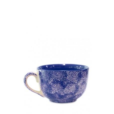 Taza azul oscuro, 12,5 x 8 cm Cerámica