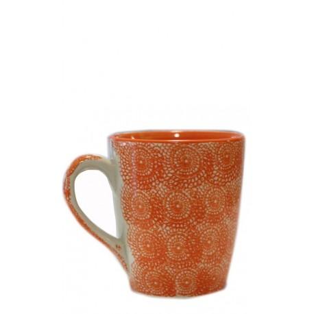 Taza naranja, 10 x 11,5 cm Cerámica