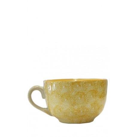 Taza mostaza, 12,5 x 8 cm Cerámica