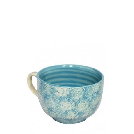 Taza azul celeste, 12,5 x 8 cm Cerámica