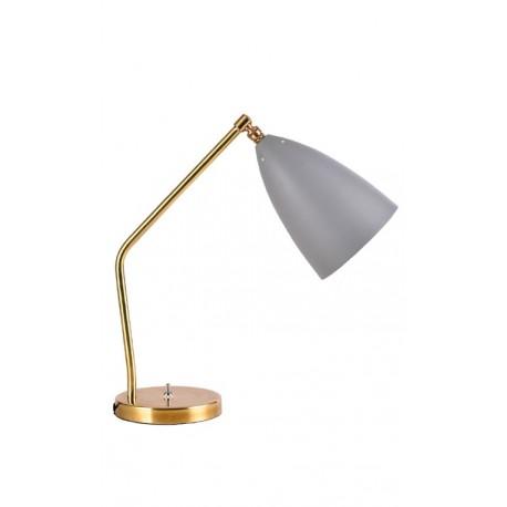 lampe de bureau grise en métal Lampe de table