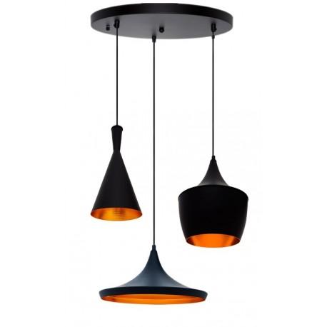 Ensemble Beat Lampes Aluminium Doré Style Suspension De En Noir 3 Ok8nwX0P