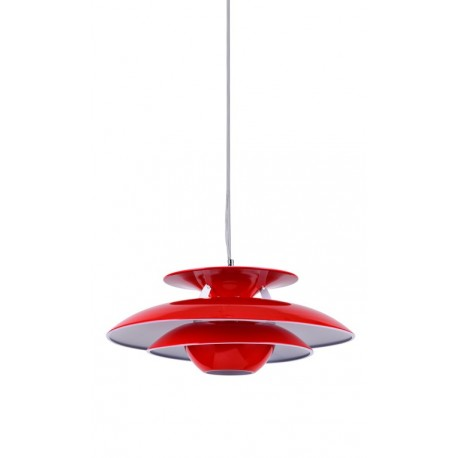 PLAFONNIER ROUGE DE STYLE SCANDINAVE PH5 SUspensions