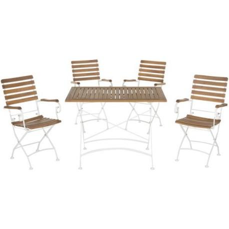 Set De Jardín Keira Outdoor 5-Piece Dining Set