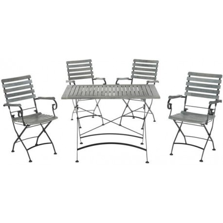 Set De Jardín Keira Outdoor 5-Piece Dining Set JARDIN