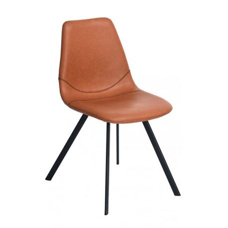 Chaise de Design en Cuir Brun Chaises design moderne