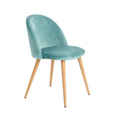 Chaise en velours vert Renard Chaises de velours