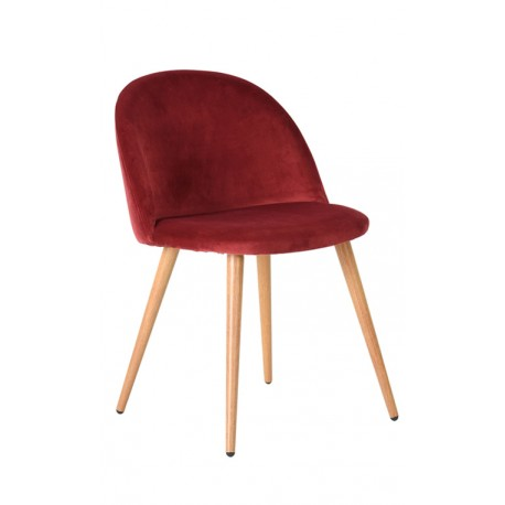 Chaise Vintage Velours Rouge Piaf Chaises design moderne