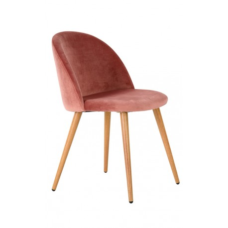 Chaise Velours Rose Piaf Chaises design moderne