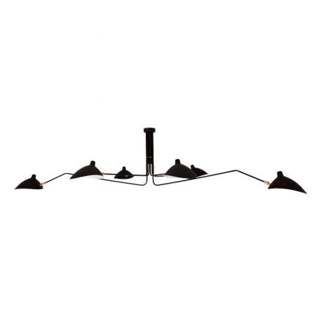 Lampe de suspension en Noir S. Mouille