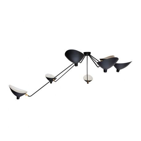 Lampe de suspension Noire à Sept Bras SUspensions