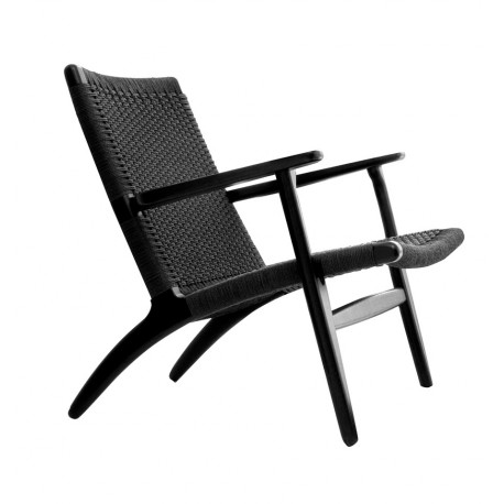 Fauteuil de design Scandinave Hans Noir Hommage CH25 SILLONES DE DISEÑO MODERNO