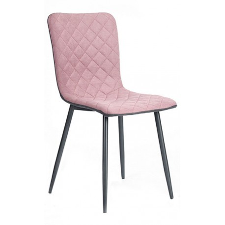 Chaise en tissu Rose Amabile Accueil