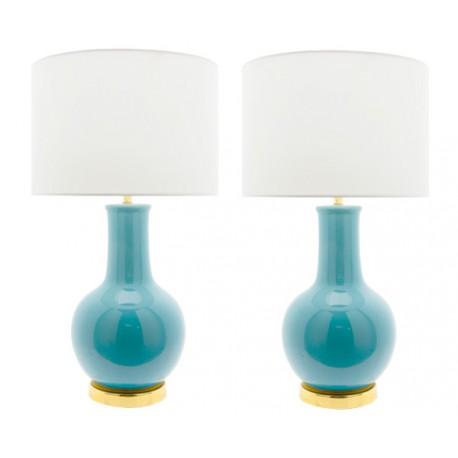 Lampe Céramique Bleu Turquoise Nicolle