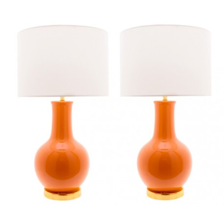Lampe Céramique Orange Nicolle