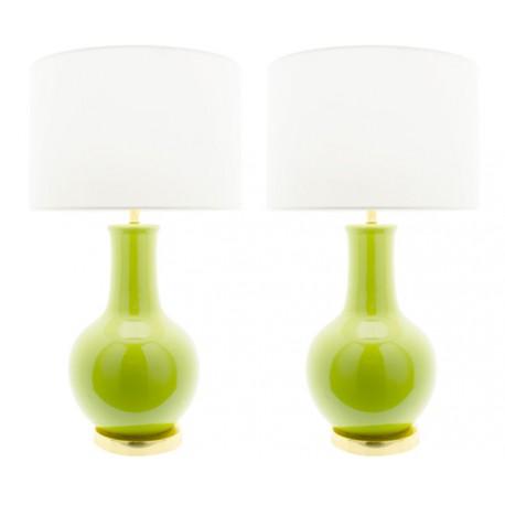 Lampe Céramique Nicolle en Vert Lampe de table