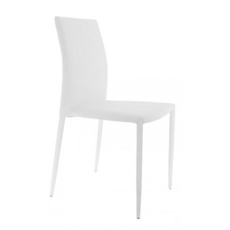 Chaise de salle à manger Empilable Blanche Luli