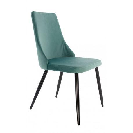 Chaise en Velours Vert Aqua Sacha Chaises de velours