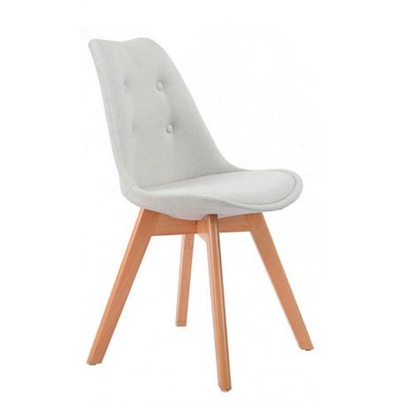 Chaise Moderne en Tissu Beige Kandem Cross