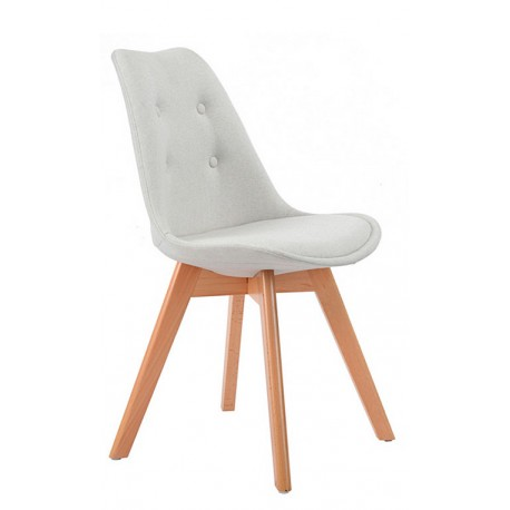 Chaise Moderne en Tissu Beige Kandem Cross Chaises design moderne