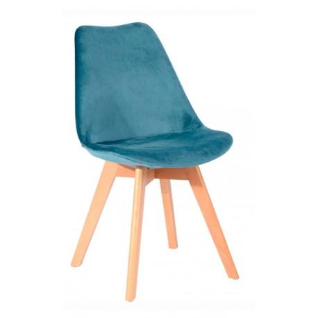 Chaise Moderne en velours Bleue Kandem Cross Chaises design moderne