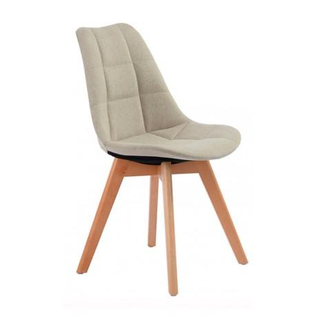 Chaise en Tissu Rembourrée Beige