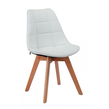 Chaise en Tissu Blanc Kandem Cross Chaises design moderne