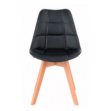 Chaise en Tissu Noir Kandem Cross Chaises design moderne