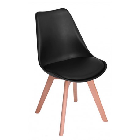 Chaise de design Moderne Noire Kandem Cross Chaises design moderne