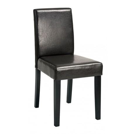 Chaise Moderne Brun en simili cuir Samu