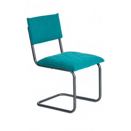 Chaise Design verte type Bauhaus Francesca Chaises rembourrées