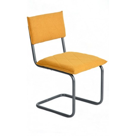 Chaise de design Jaune type Bauhaus Francesca