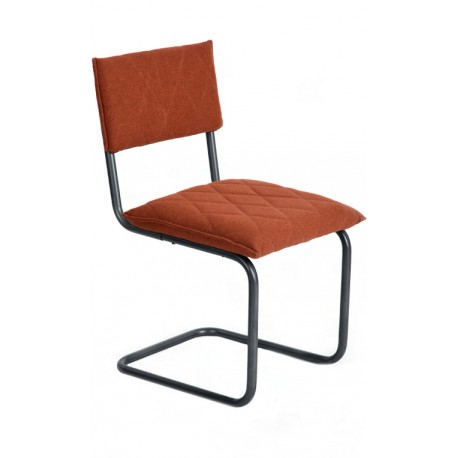 Chaise de design Orange de type Bauhaus Francesca
