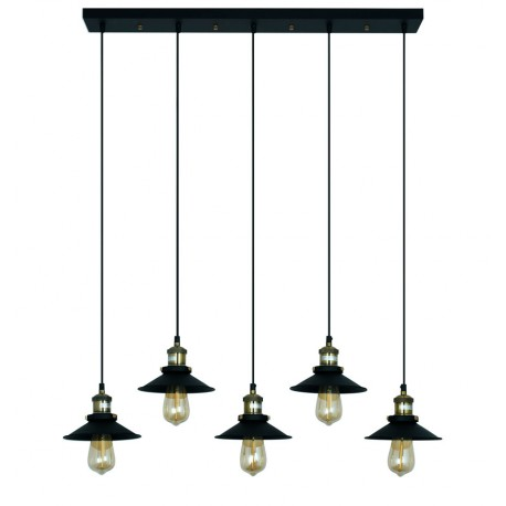 Lampe de suspension de design Edda en Noir