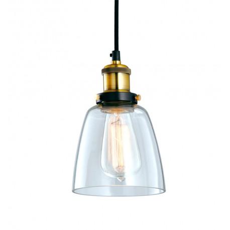 Lampe de suspension en Verre et en Laiton Kopp Luminaires