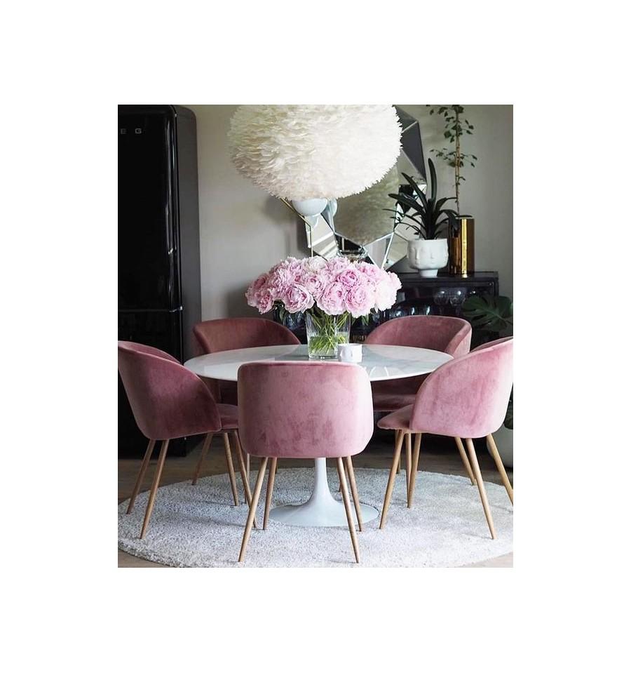 Fauteuil Vintage Piaf Pink Velvet Fauteuil Rembourre Velvet