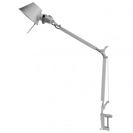 Lampe sur bras articulé avec une Pince Bauhaus argentée lampes de bureau