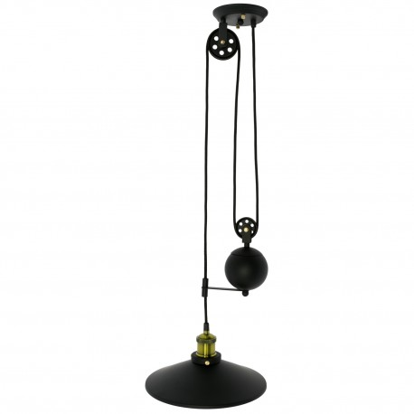 Lampe de suspension Vintage Vega en Noir SUspensions