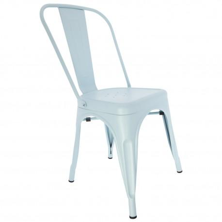Chaise Vintage de style industrielle Bleue Ciel