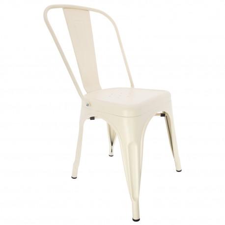 SILLA METALICA BEIGE Chaise industrielle