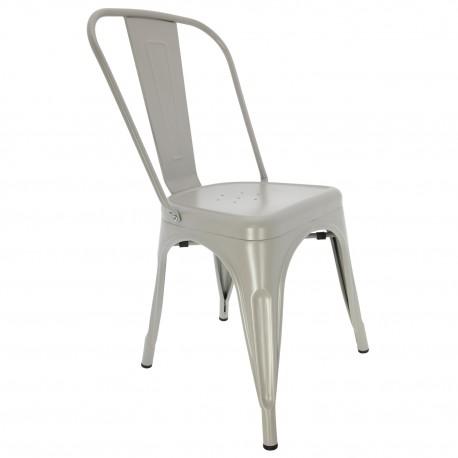 Chaise Vintage de style industrielle Gris Claire Chaise industrielle