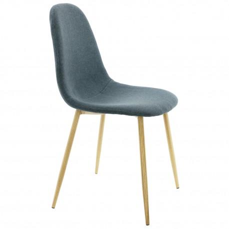 Chaise de Design Rembourrée bleue Are Chaises design moderne