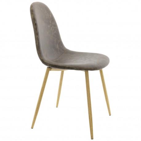 Chaise de design Vintage en Brun Lucia
