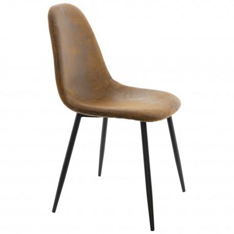 Chaise de design en Brun Lucia Accueil
