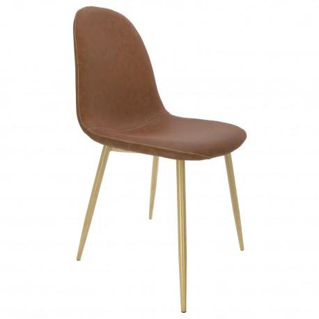 Chaise de Design Vintage Ada en Brun