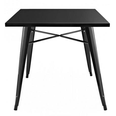 TABLE À MANGER EN MÉTAL NOIRE BISTRO Tables a diner