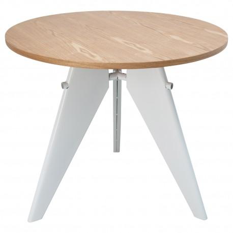 TABLE DE SALLE À MANGER EN BOIS ET ACIER Tables a diner