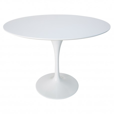 Table tulipe blanche laquée Tables a diner